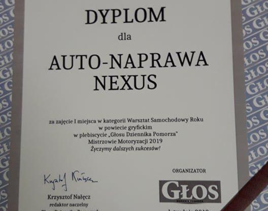 auto mechanik gryfice nexus dyplom